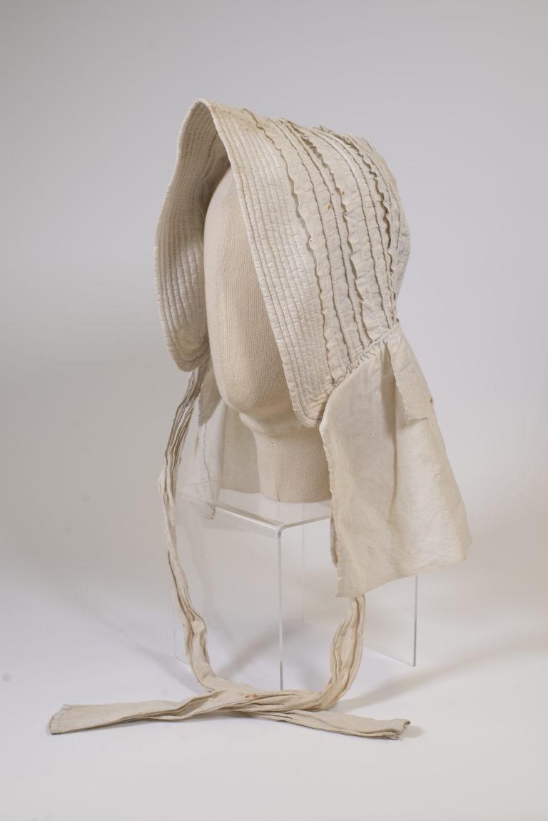Replica of Victorian bonnet worn by Granny Cousins.