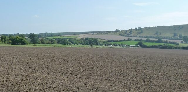 Vast expanse of ploughed field