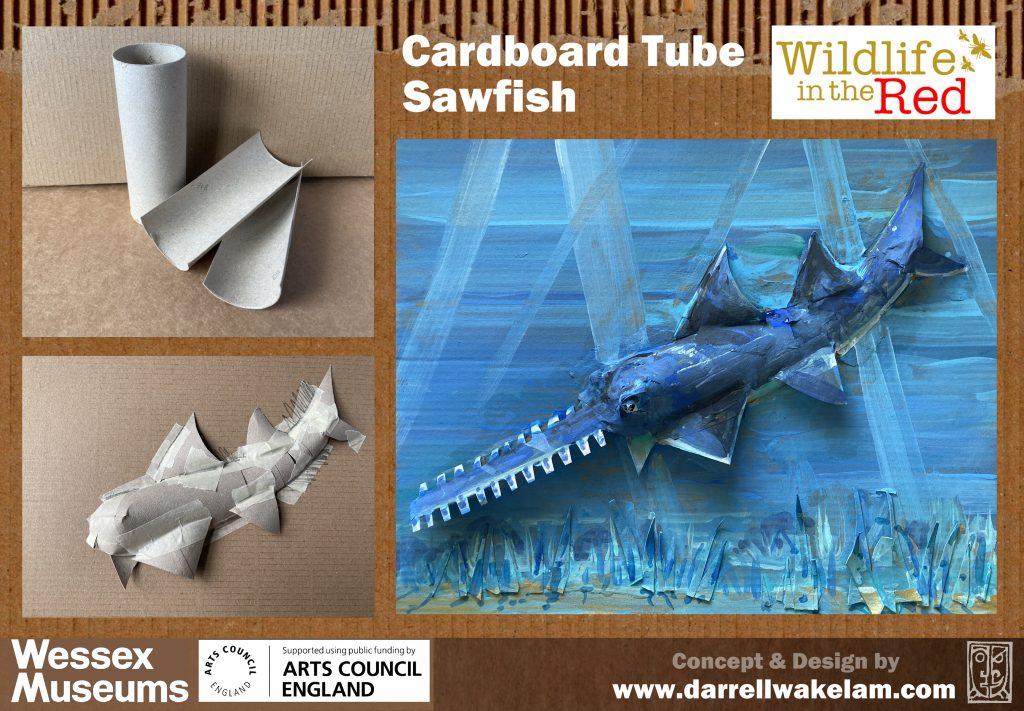 Picture of cardboard sawfish