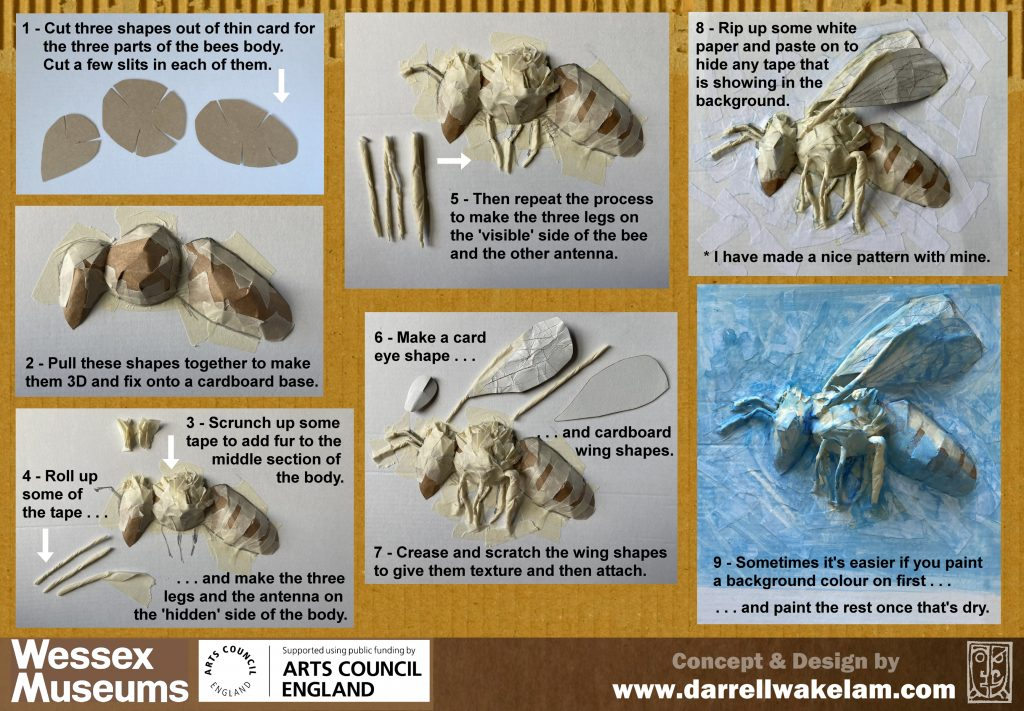 Instructions for making cardboard bee