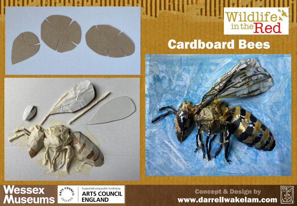 Cardboard bee