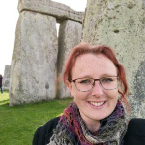 Amy Hammett pictured at Stonehenge