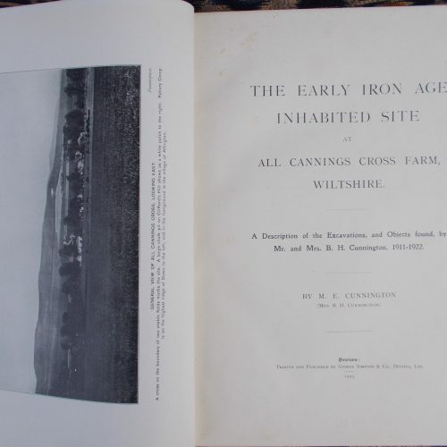Page from archaeology report from All Cannings Cross, 1923.